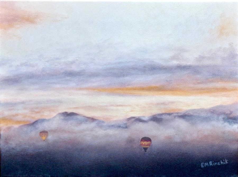 Original art for sale at UGallery.com | Into the Morning Mist by Eugene Rinchik | $500 | oil painting | 12' h x 16' w | ..\art\oil-painting-Into-the-Morning-Mist