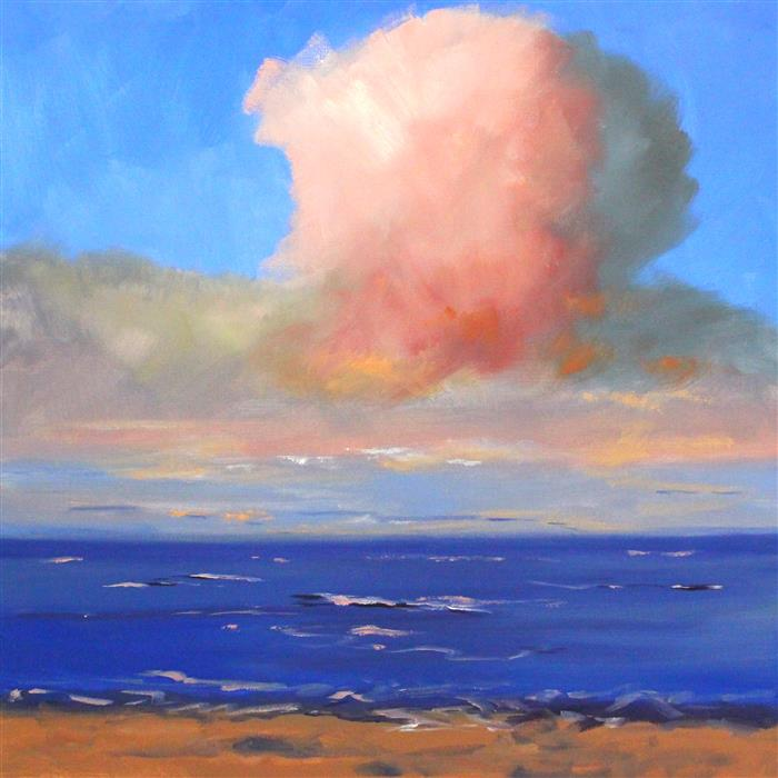 Original art for sale at UGallery.com | Pink Cloud by Nancy Merkle | $725 | oil painting | 20' h x 20' w | ..\art\oil-painting-Pink-Cloud