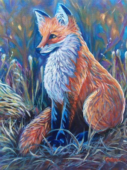 Original art for sale at UGallery.com | Spirit Fox by Pandalana Williams | $850 | oil painting | 20' h x 16' w | ..\art\oil-painting-Spirit-Fox