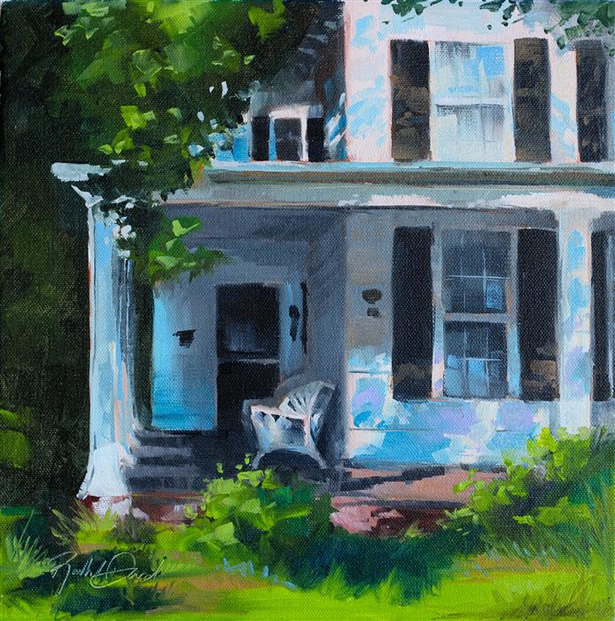Original art for sale at UGallery.com | Front Porch Comfort #2 by RACHEL DOWD | $375 |  | 12' h x 12' w | ..\art\oil-painting-Front-Porch-Comfort-2