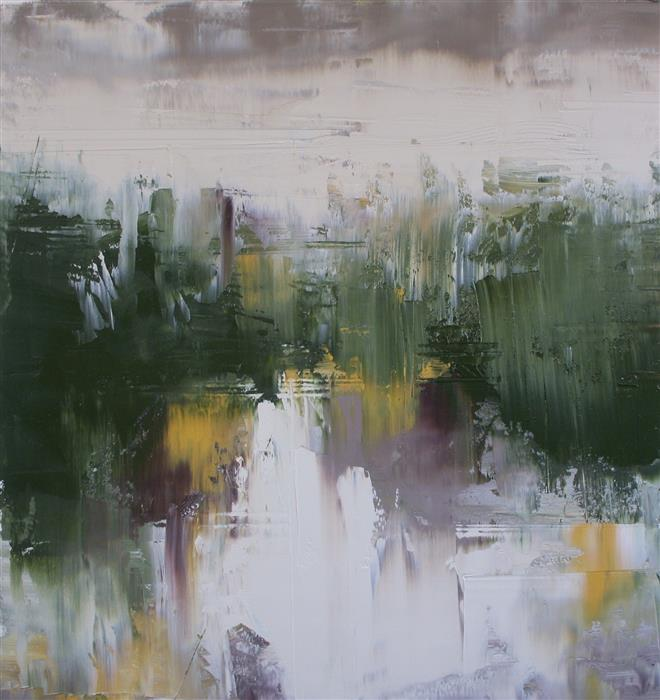 Original art for sale at UGallery.com | On Sander's Stream by Ronda Waiksnis | $600 | oil painting | 18' h x 17' w | ..\art\oil-painting-On-Sander-s-Stream