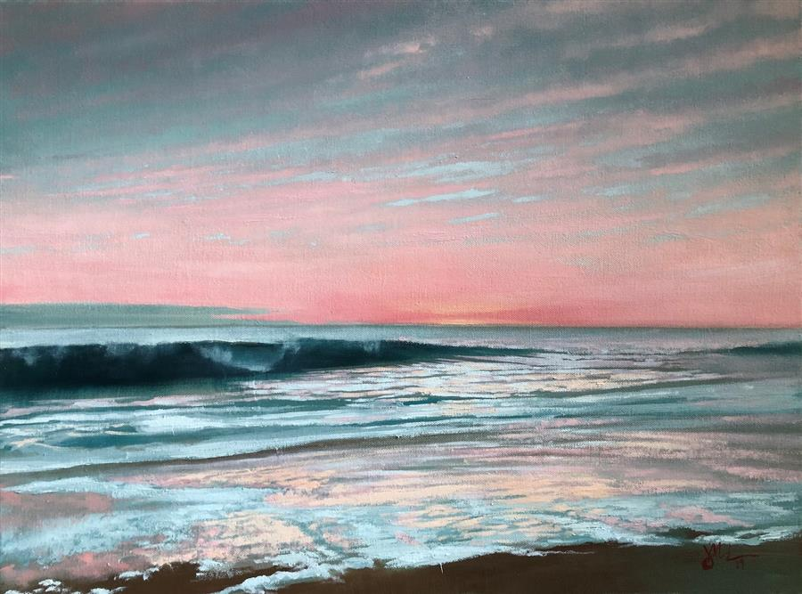Original art for sale at UGallery.com | Point Mugu by Jesse Aldana | $900 | oil painting | 18' h x 24' w | ..\art\oil-painting-Point-Mugu