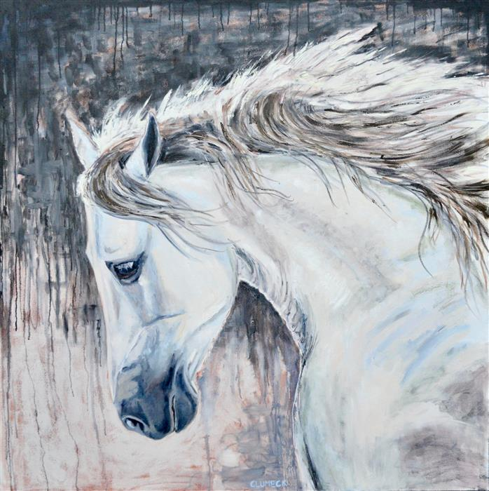 Original art for sale at UGallery.com | Reason by Alana Clumeck | $3,400 | oil painting | 48' h x 48' w | ..\art\oil-painting-Reason
