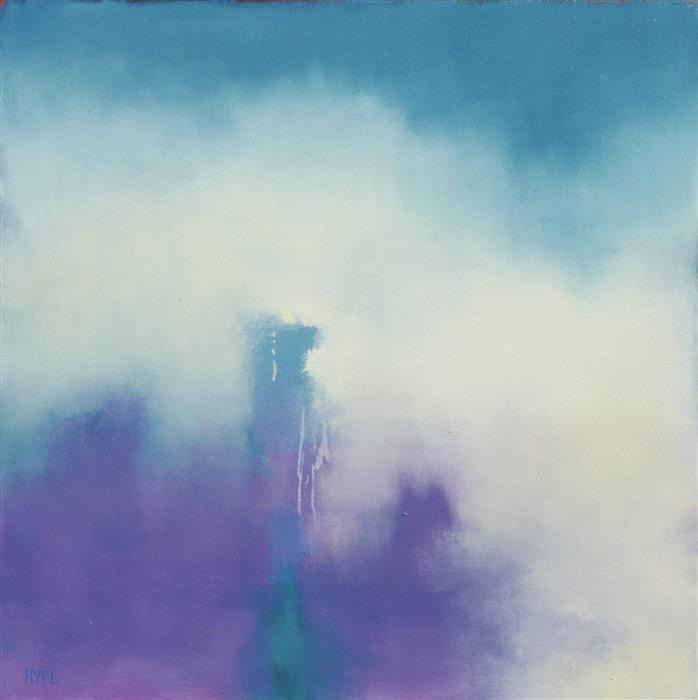 Original art for sale at UGallery.com | Violet Fog by Heidi Hybl | $2,250 | oil painting | 30' h x 30' w | ..\art\oil-painting-Violet-Fog