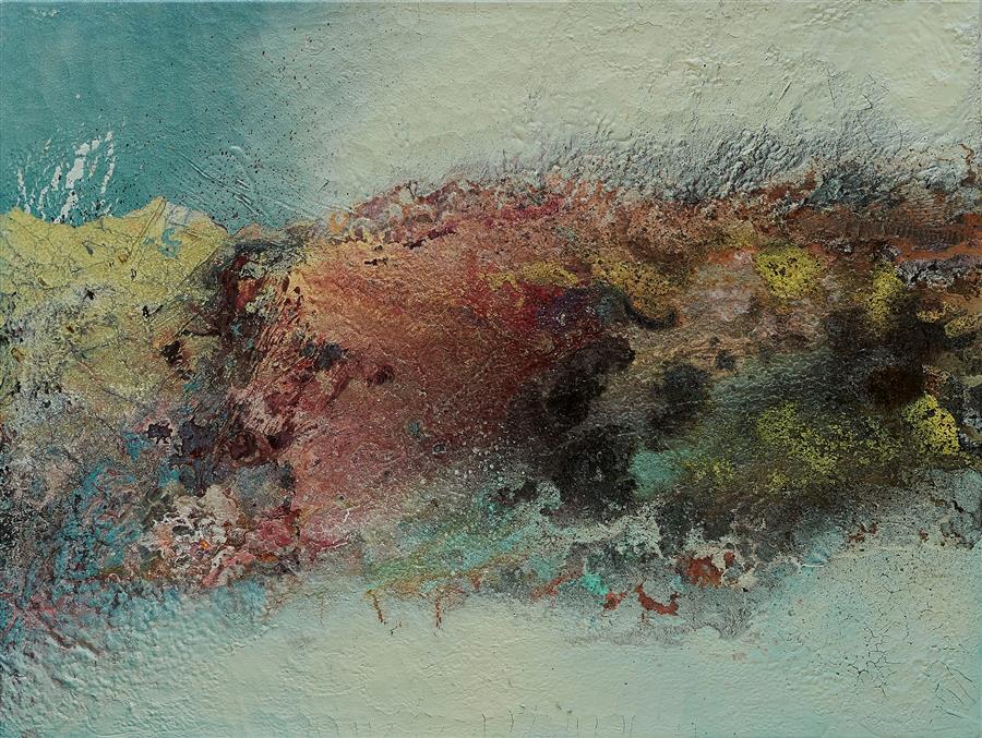 Original art for sale at UGallery.com | Lanzarote by Fernando Bosch | $2,000 | mixed media artwork | 23.6' h x 31.4' w | ..\art\mixed-media-artwork-Lanzarote
