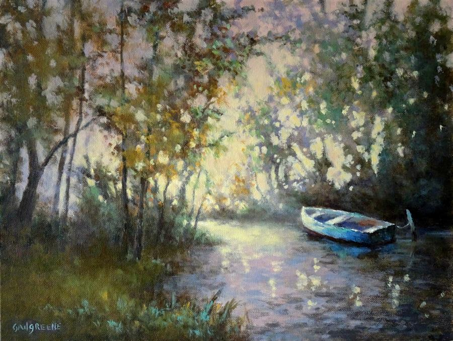 Original art for sale at UGallery.com | Catching the Light by Gail Greene | $475 | oil painting | 12' h x 16' w | ..\art\oil-painting-Catching-the-Light