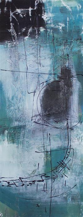 Original art for sale at UGallery.com | Azul Moon by Jane Robinson | $1,150 | acrylic painting | 40' h x 16' w | ..\art\acrylic-painting-Azul-Moon