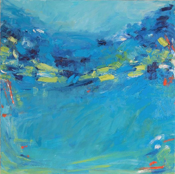 Original art for sale at UGallery.com | Evening Walk by Kajal Zaveri | $800 | oil painting | 20' h x 20' w | ..\art\oil-painting-Evening-Walk-66347