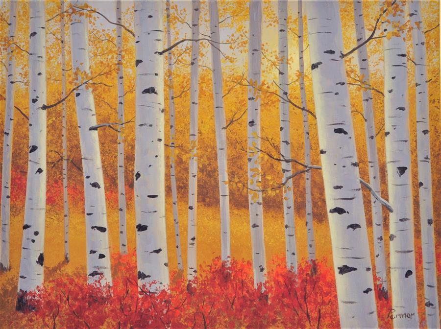 Original art for sale at UGallery.com | Aspen Glory by Robert Pennor | $975 | acrylic painting | 18' h x 24' w | ..\art\acrylic-painting-Aspen-Glory