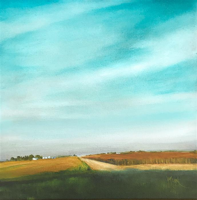Original art for sale at UGallery.com | The Great Midwest by Mandy Main | $525 | oil painting | 12' h x 12' w | ..\art\oil-painting-The-Great-Midwest