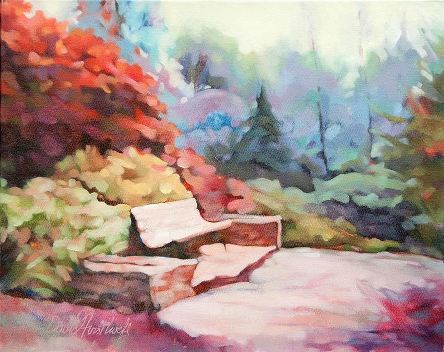Original art for sale at UGallery.com | Waiting for the Sun by David Forsthoefel | $1,300 | oil painting | 16' h x 20' w | ..\art\oil-painting-Waiting-for-the-Sun
