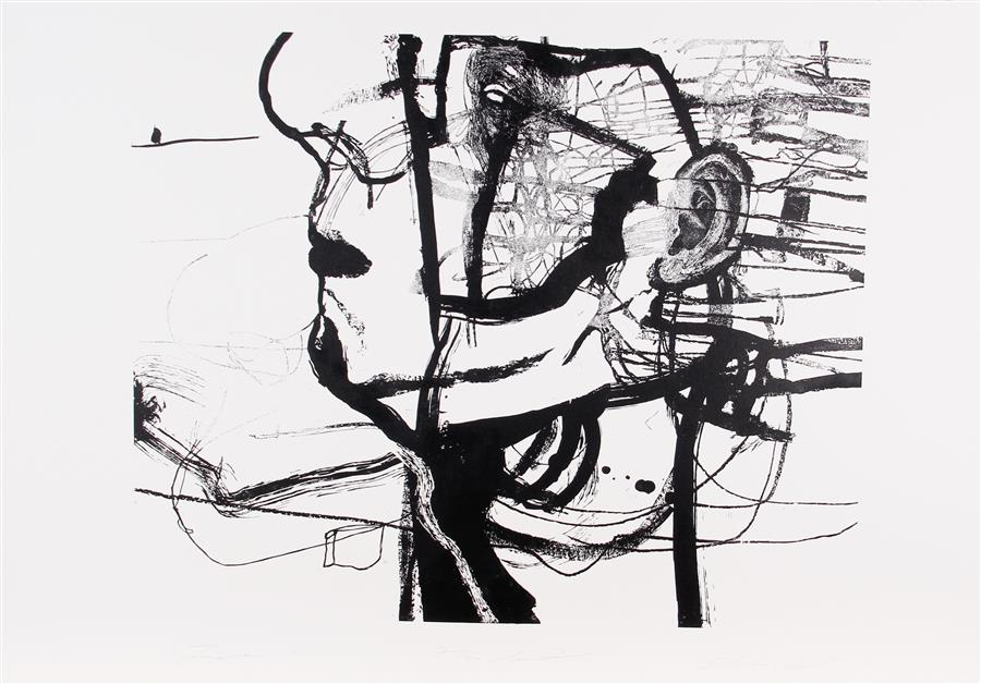 Original art for sale at UGallery.com | Zero by Natalia Pawlus | $1,050 | printmaking | 30' h x 40' w | ..\art\printmaking-Zero