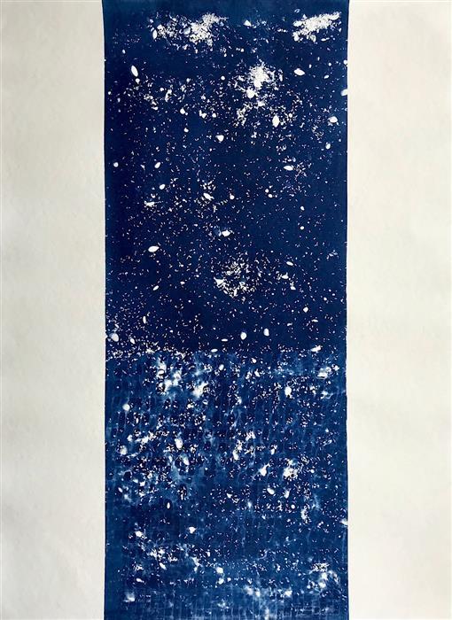 Original art for sale at UGallery.com | Dragon (III) by Quin de la Mer | $600 | mixed media artwork | 30' h x 22' w | ..\art\mixed-media-artwork-Dragon-III