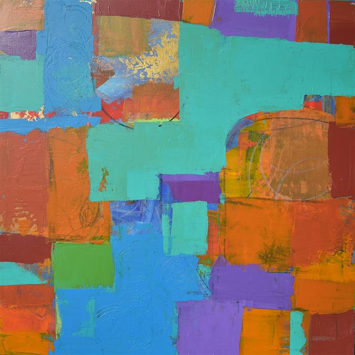 Original art for sale at UGallery.com | Color Stories by TARVER HARRIS | $875 |  | 24' h x 24' w | ..\art\acrylic-painting-Color-Stories