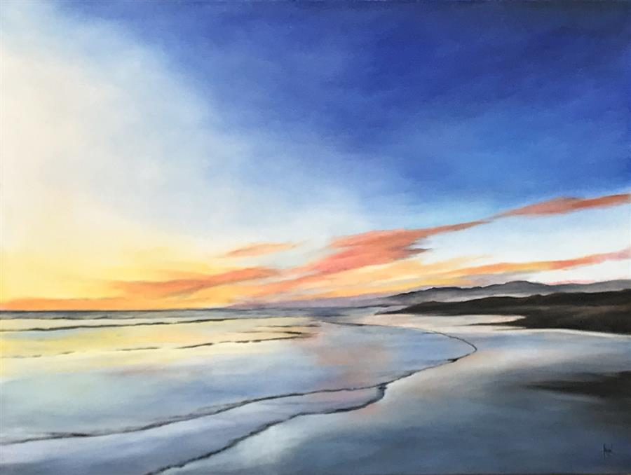 Original art for sale at UGallery.com | Magic Hour IX by Mandy Main | $3,200 | oil painting | 36' h x 48' w | ..\art\oil-painting-Magic-Hour-IX