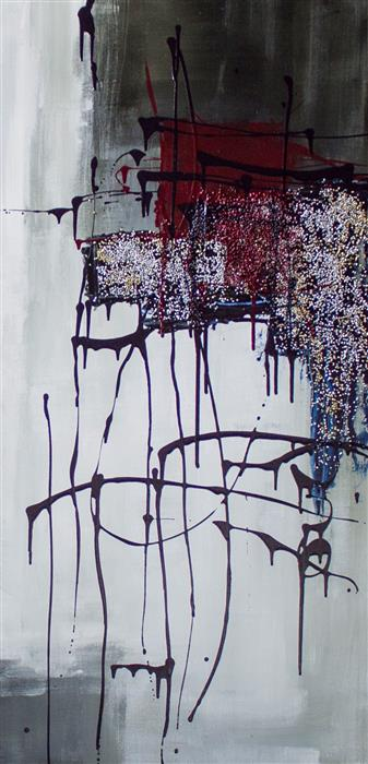 Original art for sale at UGallery.com | Midnight in Paris by Jane Robinson | $1,800 | acrylic painting | 48' h x 24' w | ..\art\acrylic-painting-Midnight-in-Paris