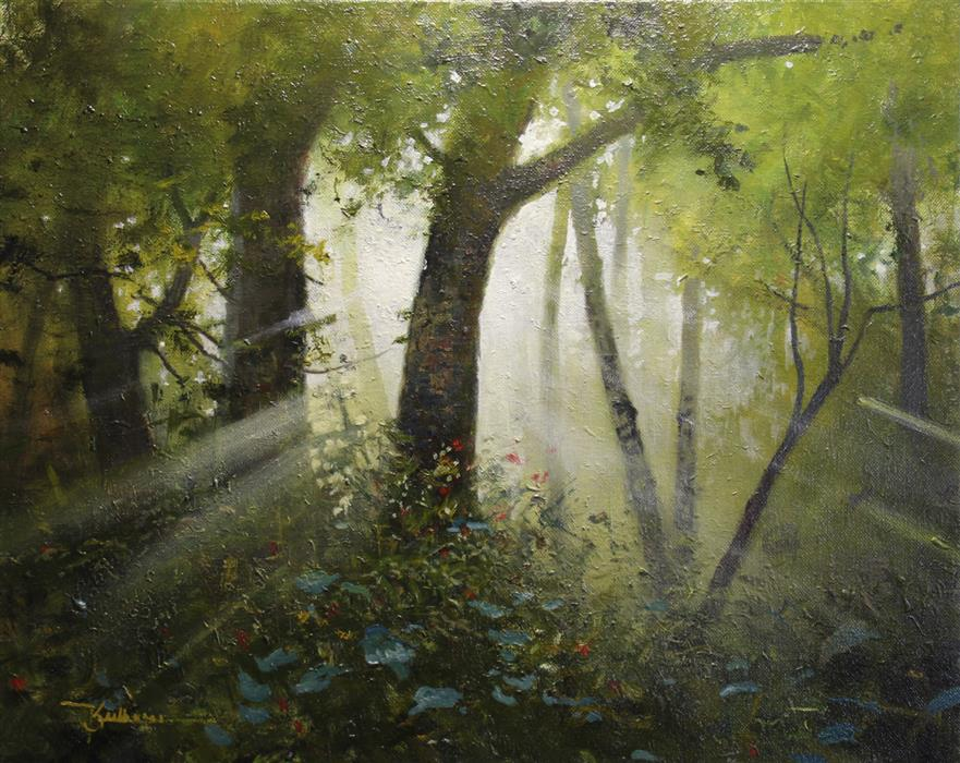 Original art for sale at UGallery.com | Good Morning Sunshine by Kent Sullivan | $1,500 | oil painting | 16' h x 20' w | ..\art\oil-painting-Good-Morning-Sunshine
