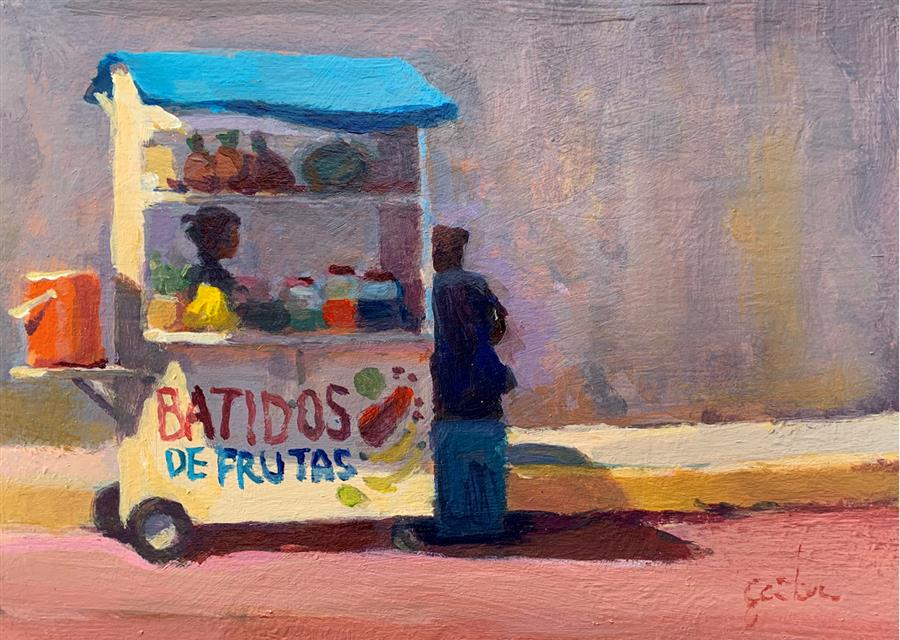 Original art for sale at UGallery.com | Batidos! by George Scribner | $425 | acrylic painting | 6' h x 8' w | ..\art\acrylic-painting-Batidos