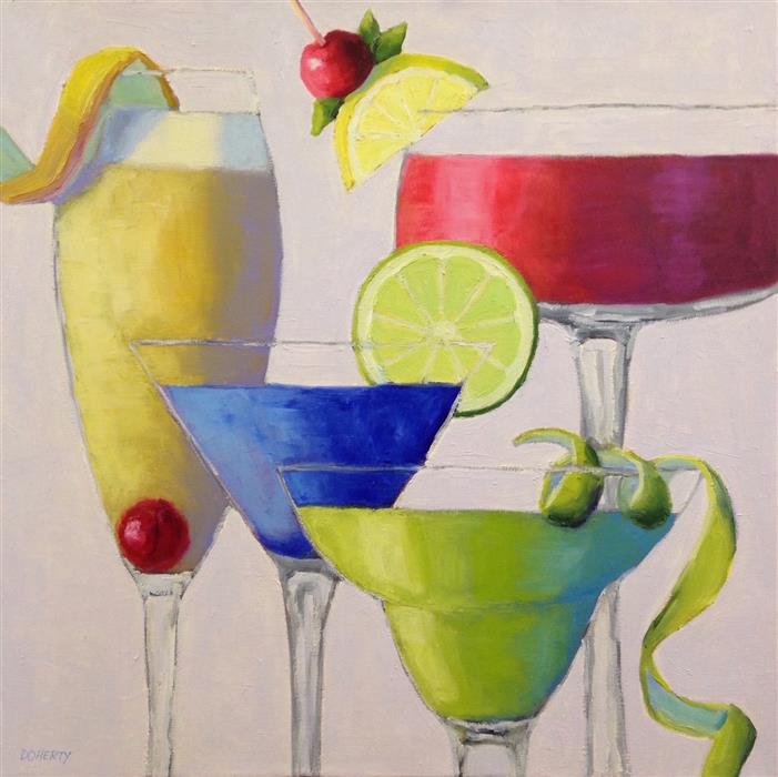 Original art for sale at UGallery.com | Cheers! by Pat Doherty | $1,500 | oil painting | 24' h x 24' w | ..\art\oil-painting-Cheers