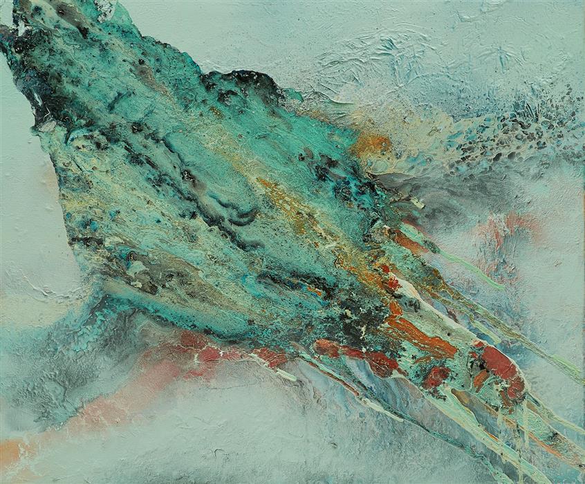 Original art for sale at UGallery.com | Aire by Fernando Bosch | $1,750 | mixed media artwork | 21.26' h x 25.5' w | ..\art\mixed-media-artwork-Aire