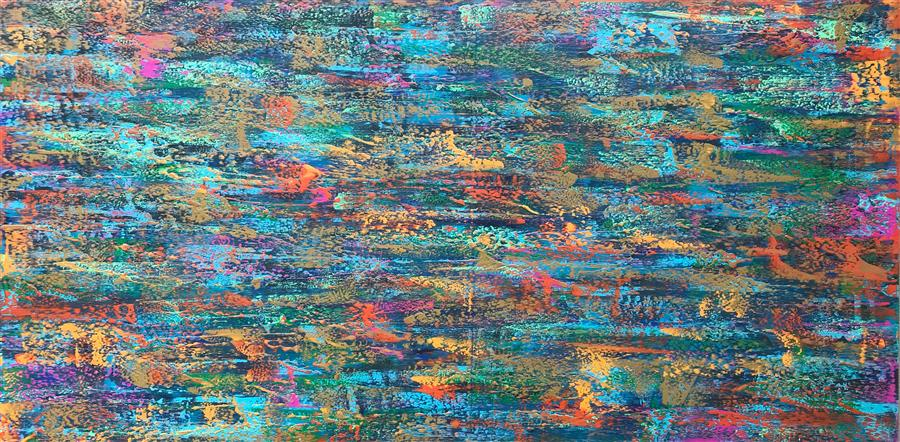 Original art for sale at UGallery.com | Nothing's Ever Simple by Alicia Dunn | $2,600 | acrylic painting | 30' h x 60' w | ..\art\acrylic-painting-Nothing-s-Ever-Simple