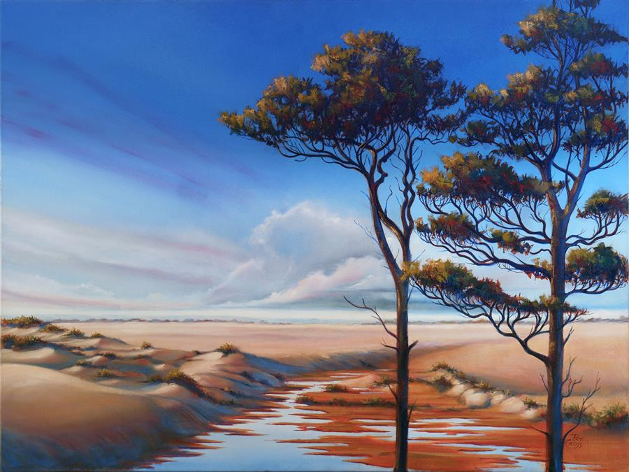 Original art for sale at UGallery.com | Incoming Tide by Pat Cross | $3,075 | oil painting | 30' h x 40' w | ..\art\oil-painting-Incoming-Tide-66626