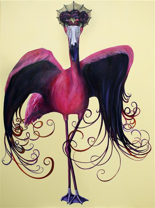 Original art for sale at UGallery.com | Maleficent by JJ Galloway | $3,000 | oil painting | 48' h x 36' w | ..\art\oil-painting-Maleficent