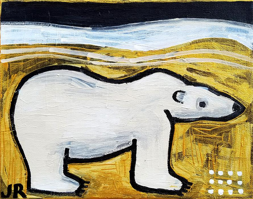 Original art for sale at UGallery.com | Polar Bear by Jessica JH Roller | $275 | acrylic painting | 8' h x 10' w | ..\art\acrylic-painting-Polar-Bear-66686