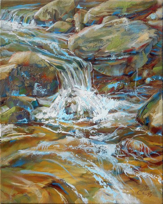 Original art for sale at UGallery.com | Making a Splash by Pat Cross | $425 | oil painting | 10' h x 8' w | ..\art\oil-painting-Making-a-Splash
