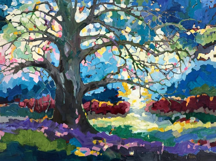Original art for sale at UGallery.com | Oak by Teresa Smith | $3,175 | oil painting | 30' h x 40' w | ..\art\oil-painting-Oak