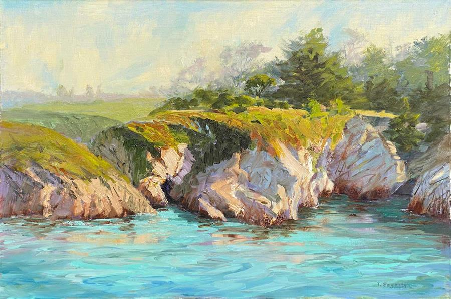 Original art for sale at UGallery.com | Turquoise Waters by Tatyana Fogarty | $1,800 | oil painting | 18' h x 24' w | ..\art\oil-painting-Turquoise-Waters