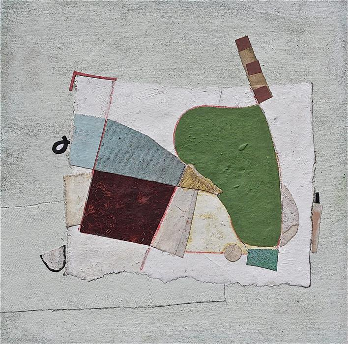 Original art for sale at UGallery.com | Five Vowel Swing by David Felix | $900 | mixed media artwork | 16' h x 16' w | ..\art\mixed-media-artwork-Five-Vowel-Swing