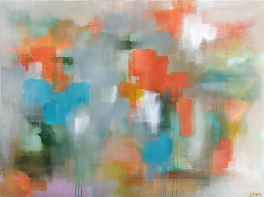 Original art for sale at UGallery.com | Tangerine Glow by Drew Noel Marin | $3,800 | acrylic painting | 36' h x 48' w | ..\art\acrylic-painting-Tangerine-Glow