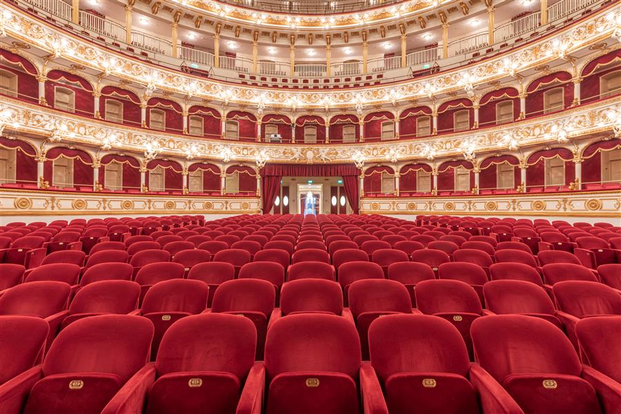 Original art for sale at UGallery.com | Teatro Petruzzelli, X, Bari, Italy by Richard Silver | $25 | photography | 60' h x 40' w | ..\art\photography-Teatro-Petruzzelli-X-Bari-Italy