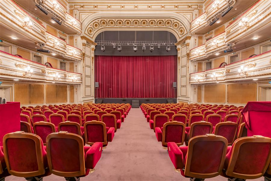 Original art for sale at UGallery.com | Teatro Nacional D. Maria II, Lisbon, Portugal VI by Richard Silver | $25 | photography | 24' h x 16' w | ..\art\photography-Teatro-Nacional-D-Maria-II-Lisbon-Portugal-VI