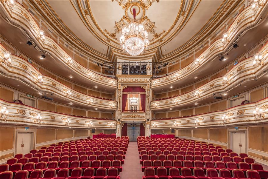 Original art for sale at UGallery.com | Teatro Nacional D. Maria II, Lisbon, Portugal by Richard Silver | $25 | photography | 24' h x 16' w | ..\art\photography-Teatro-Nacional-D-Maria-II-Lisbon-Portugal