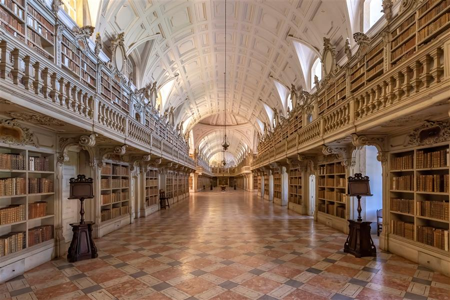 Original art for sale at UGallery.com | Mafra Palace Library, Mafra, Portugal by Richard Silver | $25 | photography | 24' h x 16' w | ..\art\photography-Mafra-Palace-Library-Mafra-Portugal