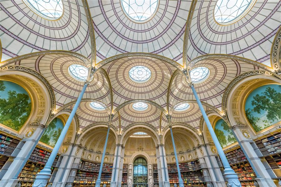 Original art for sale at UGallery.com | National Library of France by Richard Silver | $25 | photography | 24' h x 16' w | ..\art\photography-National-Library-of-France