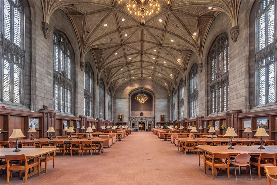 Original art for sale at UGallery.com | Harper Memorial Library III, Chicago, Illinois by Richard Silver | $50 | photography | 24' h x 16' w | ..\art\photography-Harper-Memorial-Library-III-Chicago-Illinois