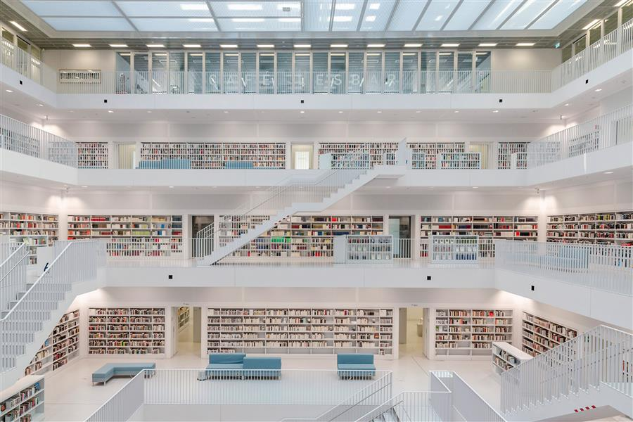 Original art for sale at UGallery.com | Stuttgart Library III by Richard Silver | $50 | photography | 24' h x 16' w | ..\art\photography-Stuttgart-Library-III