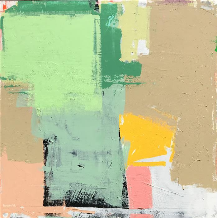 Original art for sale at UGallery.com | Lincoln Park 2 by Joey Korom | $1,300 | acrylic painting | 36' h x 36' w | ..\art\acrylic-painting-Lincoln-Park-2
