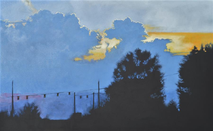Original art for sale at UGallery.com | Intersection by David Thelen | $2,000 | oil painting | 30' h x 48' w | ..\art\oil-painting-Intersection-66868