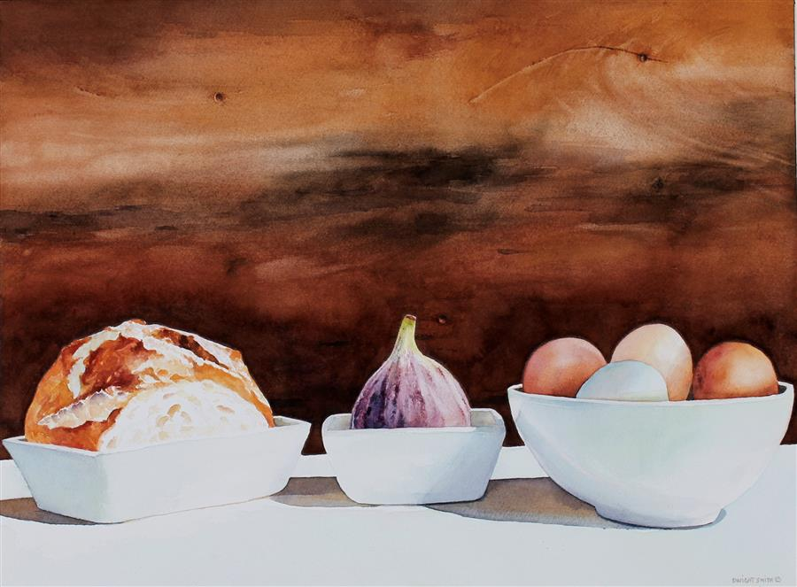 Original art for sale at UGallery.com | Honest Meal by Dwight Smith | $475 | watercolor painting | 12' h x 16' w | ..\art\watercolor-painting-Honest-Meal
