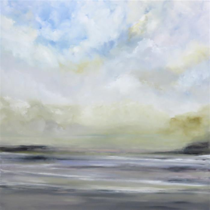 Original art for sale at UGallery.com | Heaven's Shores by Jenn Williamson | $2,000 | acrylic painting | 36' h x 36' w | ..\art\acrylic-painting-Heaven-s-Shores
