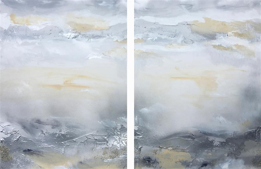 Original art for sale at UGallery.com | Oneness (Diptych II) by Michele Morata | $1,100 | oil painting | 24' h x 36' w | ..\art\oil-painting-Oneness-Diptych-II