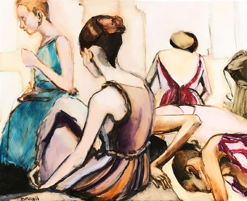 Original art for sale at UGallery.com | Backstage by Liz Brozell | $850 | oil painting | 16' h x 20' w | ..\art\oil-painting-Backstage-66950