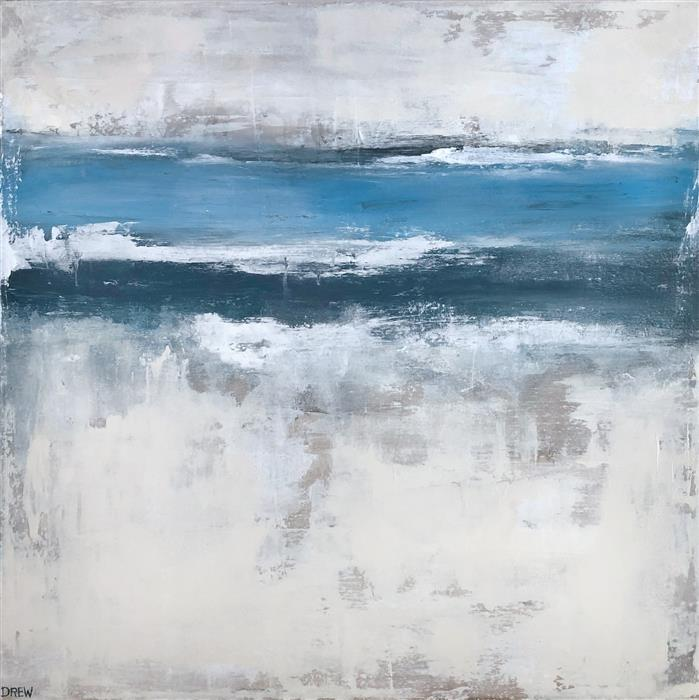 Original art for sale at UGallery.com | Ebb & Flow by Drew Noel Marin | $1,700 | acrylic painting | 28' h x 28' w | ..\art\acrylic-painting-Ebb-Flow