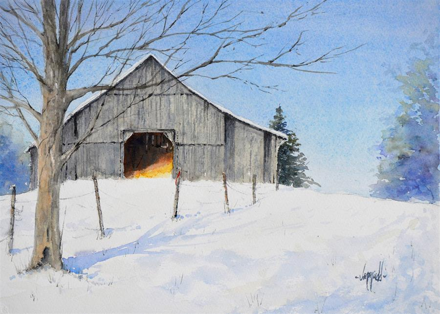 Original art for sale at UGallery.com | Cold Storage by Judy Mudd | $775 | watercolor painting | 11' h x 15' w | ..\art\watercolor-painting-Cold-Storage