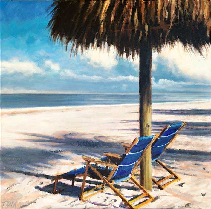 Original art for sale at UGallery.com | Take a Seat by Tom Manziano | $3,500 | acrylic painting | 36' h x 36' w | ..\art\acrylic-painting-Take-a-Seat