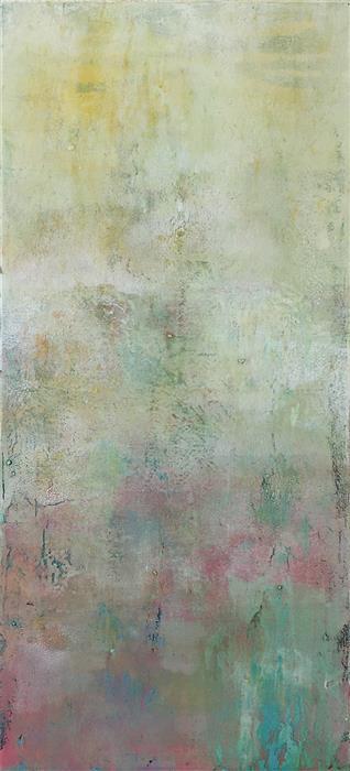 Original art for sale at UGallery.com | Floating on Spring's Soft Breath by Agata Kijanka | $625 | oil painting | 22' h x 10' w | ..\art\oil-painting-Floating-on-Spring-s-Soft-Breath